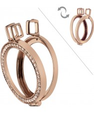 Emozioni DP557 33mm Rose Gold Plated Reversible Coin Keeper