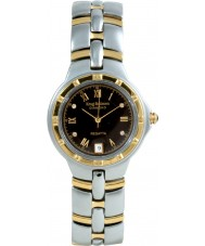 Krug Baümen 2616DM Regatta 4 Diamond Black Dial Two Tone Strap