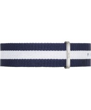 Daniel Wellington DW00200018 Mens Classic Glasgow 40mm Silver Blue and White Nylon Spare Strap