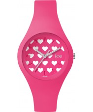 Ice-Watch LO.PK.HE.S.S.16 Ladies Ice-Love Small Pink Silicone Strap Watch