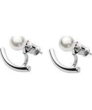 Skagen SKJ0921040 Ladies Agnethe Steel Earrings with Pearls