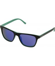 Police Mens Hot 1 S1936-7VLB Black Green Mirror Violet Sunglasses