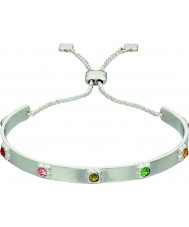 Orla Kiely B4850 Ladies Sterling Silver Flower Bracelet with Swarovski Details