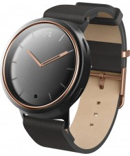 Misfit MIS5002 Phase Black Leather Watch Compatible with Android and iOS