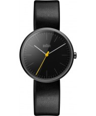 Braun BN0172BKBKL Mens Classic Slim Black Leather Strap Watch