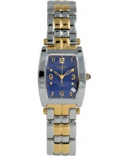 Krug Baümen 1964DMT Tuxedo Two Tone 4 Diamond Blue Dial Steel-Two Tone Strap