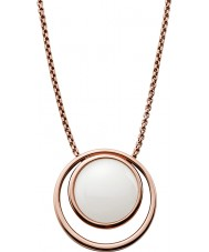 Skagen SKJ0821791 Ladies Sea Glass Rose Gold Plated Necklace