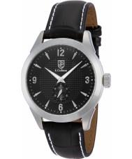 S Coifman SC0112 Mens Black Leather Strap Watch