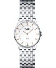 Rotary LB08200-02 Ladies Ultra Slim White Steel Watch
