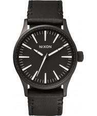 Nixon A377-005 Mens Sentry 38 Black White Watch