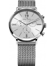 Maurice Lacroix EL1088-SS002-110 Mens Eliros Chronograph Silver Mesh Watch