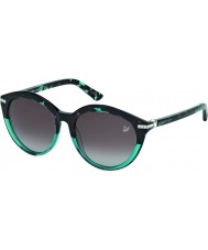 Swarovski Ladies Turquoise-Havana SK0070 Demi Sunglasses