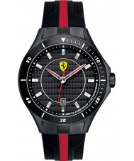 Scuderia Ferrari 0830079 Mens Race Day Black and Red Rubber Watch