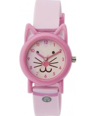 Tikkers TK0087 Girls Light Pink Silicone Cat Watch