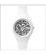 Ice-Watch LO.WE.DO.S.S.16 Ladies Ice-Love Small White Silicone Strap Watch