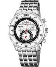 Festina F6830-1 Mens White Steel Chronograph Watch