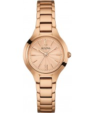 Bulova 97L151 Ladies Dress Rose Gold Plated Watch