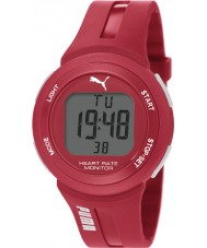 Puma PU911101004 Pulse Plus Red Silicone Strap Chronograph Watch