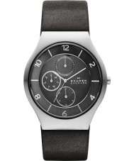 Skagen SKW6116 Mens Grenen Grey Leather Strap Multifunction Watch