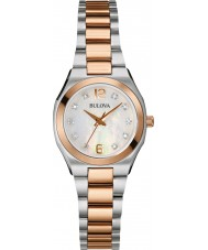 Bulova 98P143 Ladies Diamond Gallery Two Tone Steel Bracelet Watch
