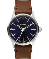 Nixon A377-1524 Mens Sentry 38 Blue Brown Watch