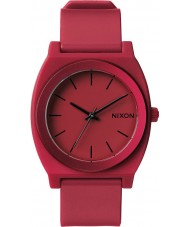 Nixon A119-1298 Mens Time Teller P Dark Red Ano Watch