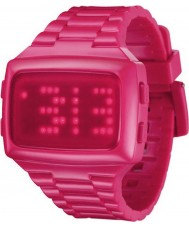 LED LED-PK-STP Unisex Digital Pink Dial And Pu Strap Watch