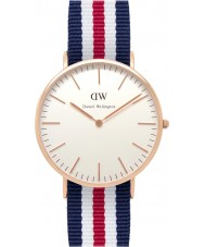 Daniel Wellington DW00100002 Mens Classic 40mm Canterbury Rose Gold Watch