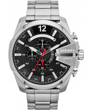 Diesel DZ4308 Mens Mega Chief Black Steel Chronograph Watch