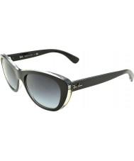 RayBan RB4227 55 Highstreet Top Matt Black on Transparent 60528G Gradient Sunglasses