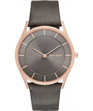 Skagen SKW2346 Ladies Slim Holst Grey Leather Strap Watch