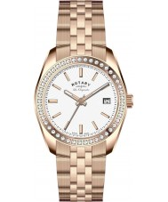 Rotary LB90112-01 Ladies Les Originales Lausanne Stone Set Rose Gold Plated Watch