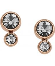 Fossil JF02525791 Ladies Rose Gold Steel Stud Earrings