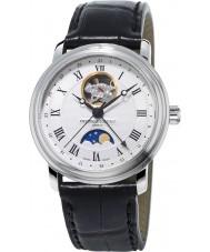 Frederique Constant FC-335MC4P6 Mens Classics Moonphase Black Leather Strap Watch