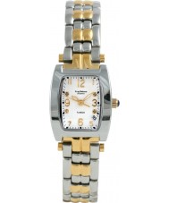 Krug Baümen 1963DLT Tuxedo Two Tone 4 Diamond White Dial Steel-Two Tone Strap