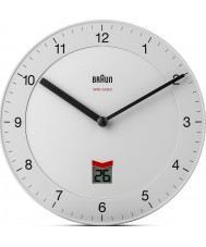 Braun BNC006WHWH-MSF Radio Controlled Wall Clock - White