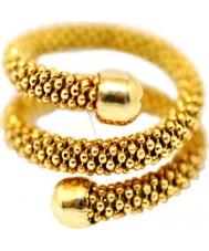 Babette Wasserman RG230G-L Ladies Stardust Snake Ring - Size L
