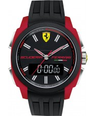 Scuderia Ferrari 0830121 Mens Aerodinamico Black Red Rubber Watch