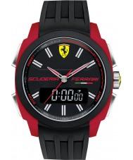 Scuderia Ferrari Mens Aerodinamico Black Red Rubber Watch