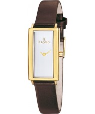 Fjord FJ-6009-03 Ladies Gyda 2 Hand Gold Brown Watch
