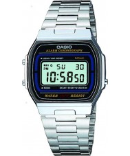 Casio A164WA-1VES Collection Classic Silver Steel Digital Watch