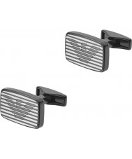 Emporio Armani EGS2179060 Mens Signature Two Tone Steel Cufflinks