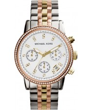 Michael Kors MK5650 Ladies Ritz Tri-Tone Chronograph Watch