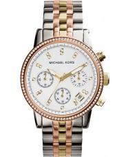 Michael Kors MK5650 Ladies Ritz Tri-Tone Chronograph Watch