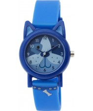 Tikkers TK0089 Boys Dark Blue Silicone Dog Watch