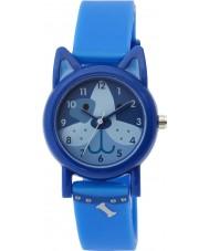 Tikkers TK0089 Boys Dark Blue Silicone Dog Watch