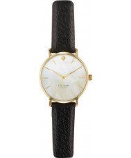 Kate Spade New York 1YRU0010 Ladies Metro Black Leather Strap Watch