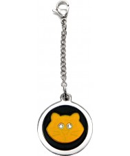 I Puppies PF-001-A Cat Steel and Orange Tag For Collar Medallion