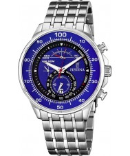Festina F6830-3 Mens Blue Steel Chronograph Watch