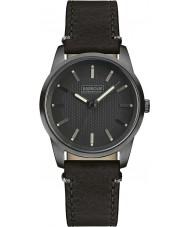 Barbour BB026GNBK Mens Jarrow Black Leather Strap Watch